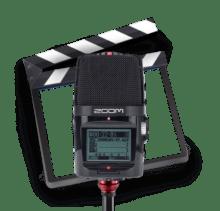 web audio - Zoom H2 et clap vidéo