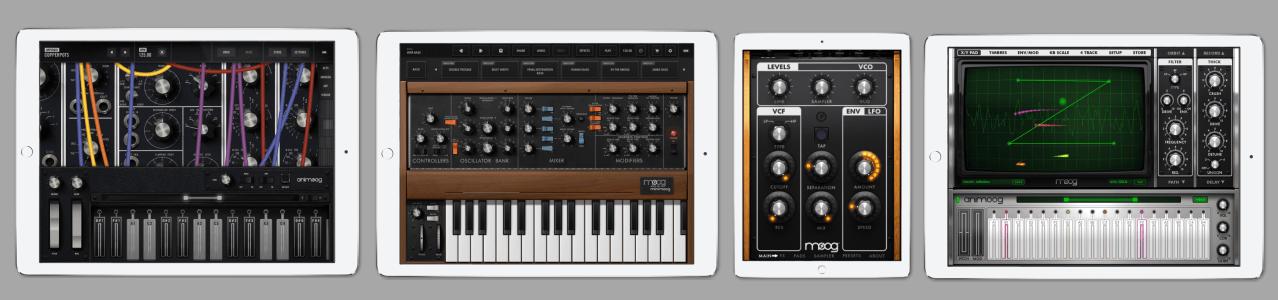 4 synthés Moog pour iPad