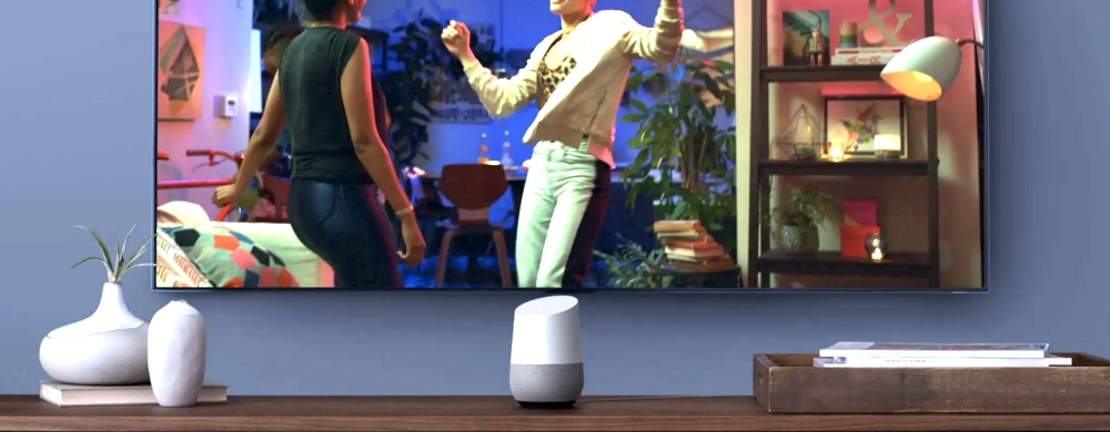 Google Home dans le living-room