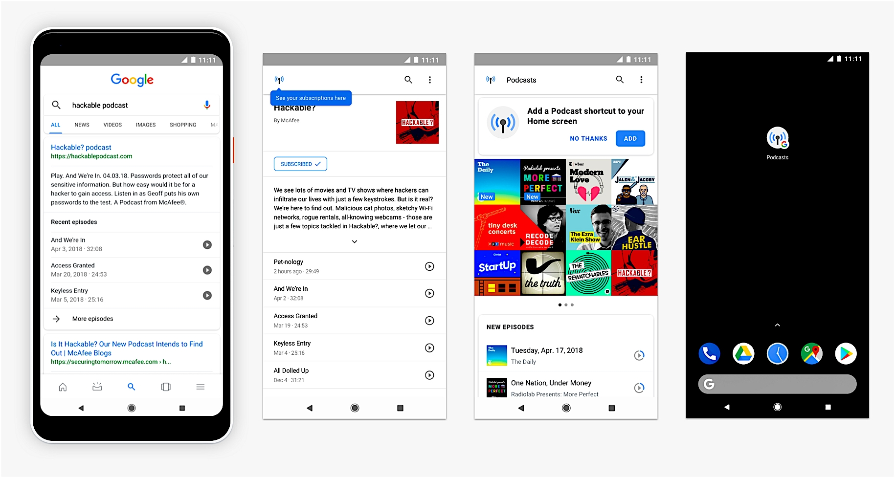 les recommandations Google pour les podcasts