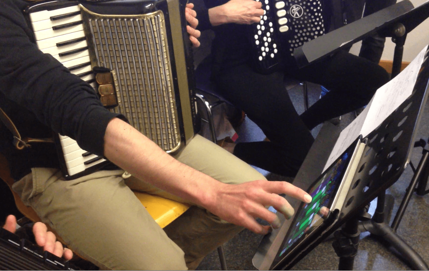 accordéons et ipad