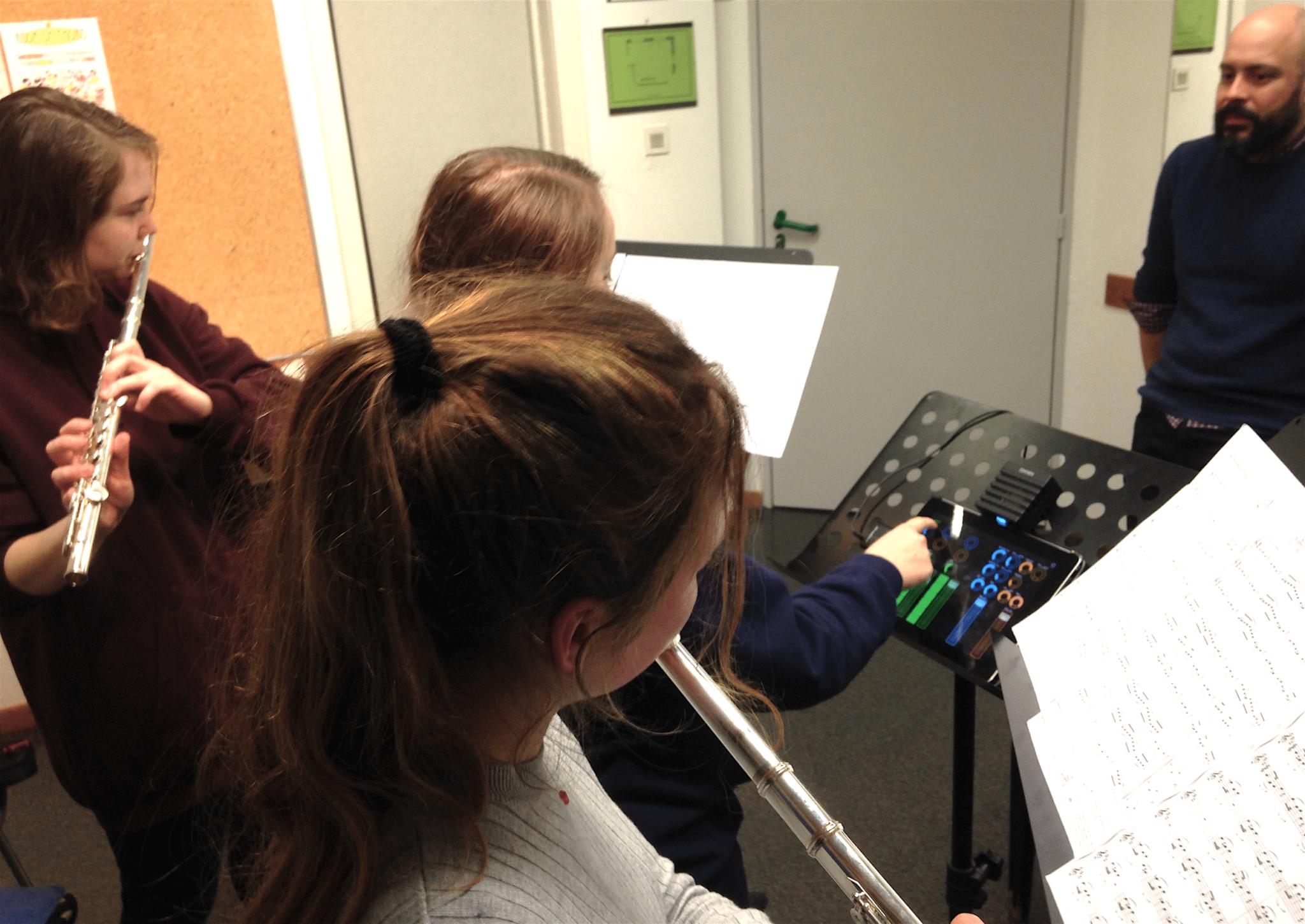 ecole de musique trio de flutes traversières et électronique