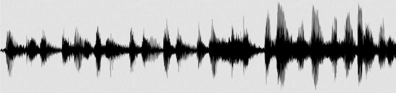 fichier audio - forme d'onde