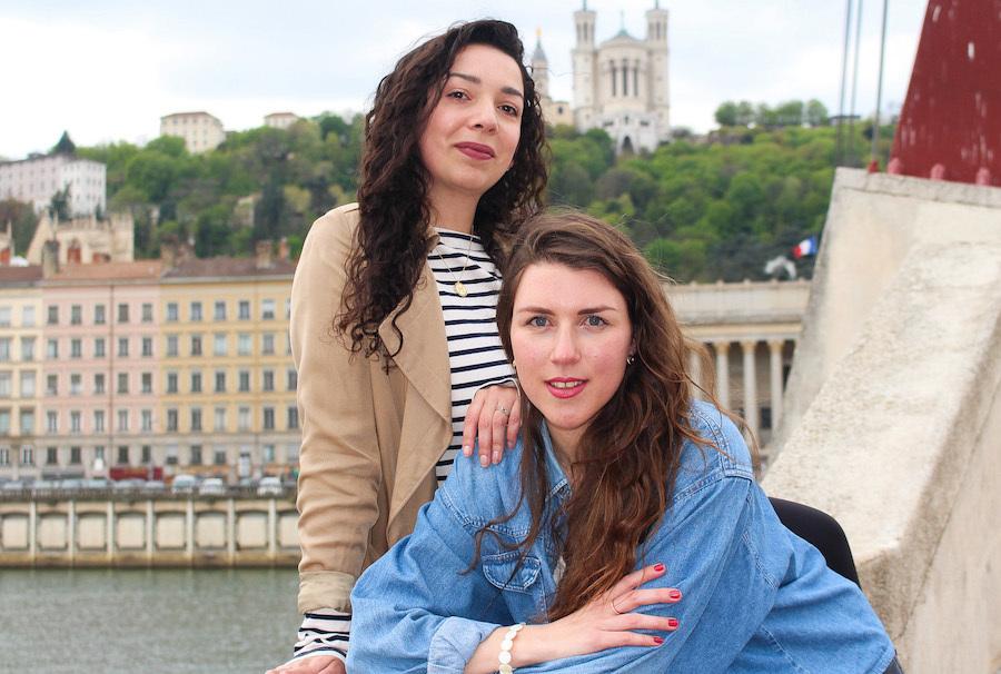 l'Equipe qui a créé l'appli Vocaléo : Marion Thièrion et Marion Dufrenne