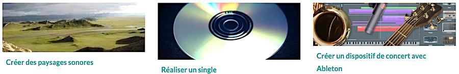 3 autres Master Classes Audio : Réaliser un sungle, Créer des paysages sonores et Créer un dispositif de concert avec Ableton Live