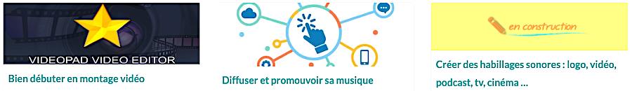 Les Masterclasses Audio : Bien débuter en montage vidéo, Diffuser et promouvoir sa musique, Créer des habillages sonores : logo, vidéo, podcast, tv, cinéma ...